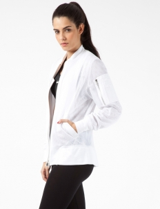 White Airtex Flight Jacket