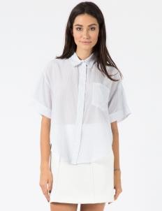 Blue/White Fine Stripe Grandpa Shirt