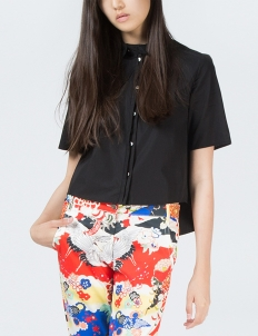 Black Eco Patched Shirt