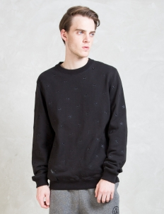 Black Skydome Crewneck Sweater