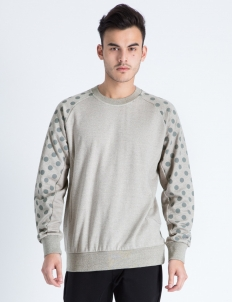 Heather Grey Tech 3M Dots Crewneck