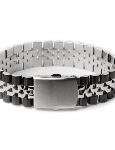Chrome/Black Mr. Band Bracelet