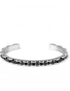 Black Black Wave Cuff Bracelet