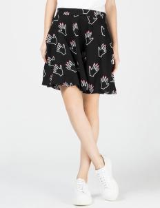 Black Hands off Circle Skirt