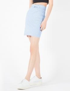 X Kiko Blue Gingham Skirt