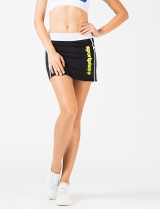 Black Tech Tennis Skirt