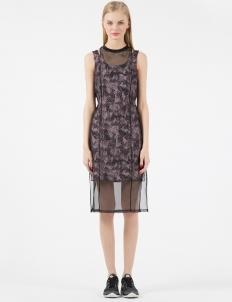 Vintage Black Dana Double Layered Dress