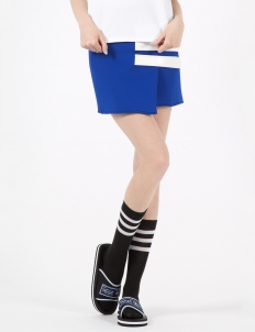 Blue Velcro Strap Skirt
