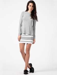 Black Multi Cut Out L/S Layer Dress