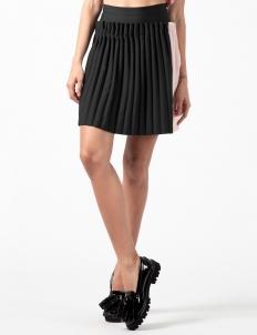 Black Multi Lotte Pleated Skirt