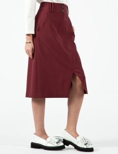 Wine High Waist Skirt