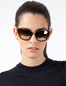 Luxe Black Acetate w/ gold Lens Sunglasses