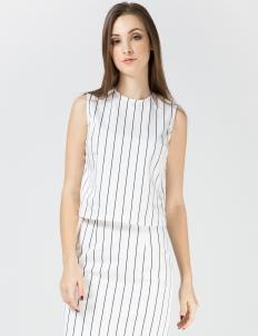 White Striped Tia Top