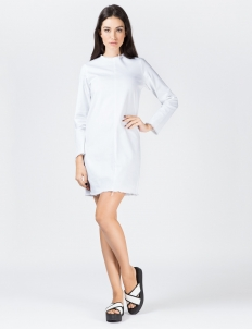 White X Twill L/S Dress