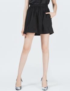 Black Empire Pleats Skirt