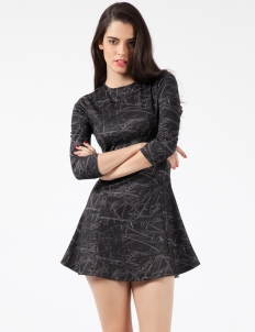 Black Totally Wired Form Dress