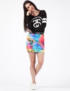 Multi Garden Floral Mini Skirt