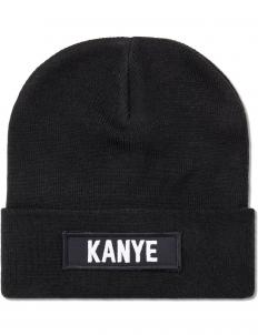 Black Kanye Patch Beanie