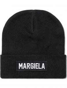 Black Margiela Patch Beanie