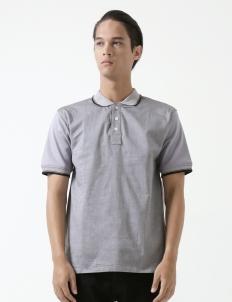 Conrad Grey Cotton Polo Shirt