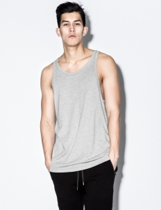 Heather Grey Elongated Strap Tank Top