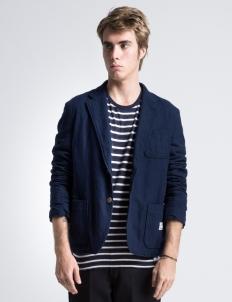 "Navy 2B Wool ""Michael"" Blazer Jacket"