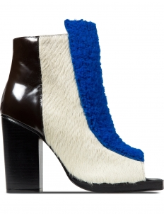Cobalt Multi Elise Open Toe Booties