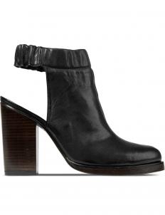 Black Lucie Mule Sandals