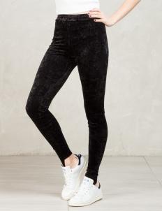 Black Pile Leggings