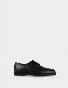 Croc-Embossed Genuine Leather Shoes