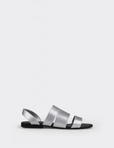 3 Straps Sandals in Silver