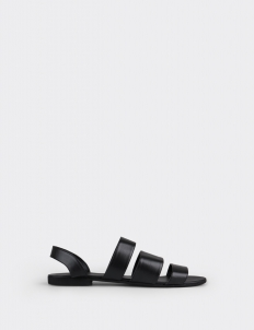 3 Strap Sandals in Black