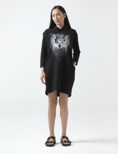 Javan Owl Hooded Dress