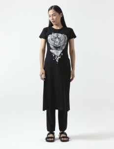 Bali Tiger Long Dress with slit