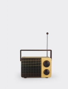 Light Brown IKoNO++/  FM-AM Portable Wooden Radio