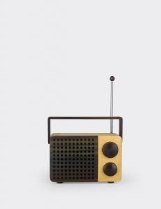 Light Brown IKoNO++/  FM-AM Portable Wooden Radio