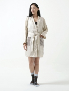 Brown Fleur Kimono