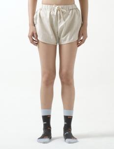 Brown Fleur Shorts
