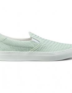 Silence White Python Skin Garda Slip-On Shoes