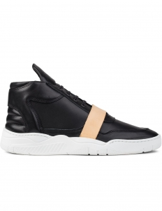Leather Strap Mid Top Transformed Sneakers