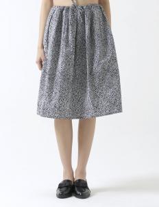 A-line Skirt Kotak Sawah Hitam