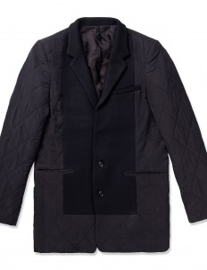 Black Two Button Quilted Jacket