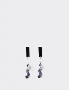 3 Shapes Transparent Marble Earrings
