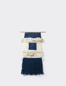 Wall Hanging Tapestry Navy White