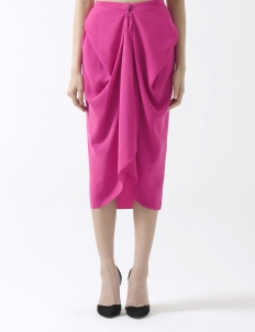 Lovina Midi Skirt Shocking Pink