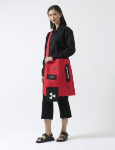 Red Patches Sling Bag
