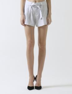 Stripes White Keyna Shorts