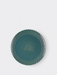 Dahlia Winter Teal Large Plate