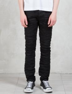 Type-268 Rigid Black Japanese Denim 5 Pockets Jeans