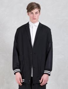Oversized Drop Shoulder Fish Net Jacket